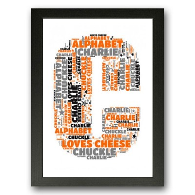 Alphabet Letter C Personalised WordArt Gift
