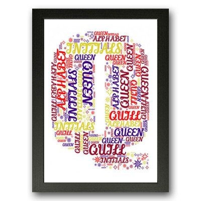 Alphabet Letter Q Personalised WordArt Gift