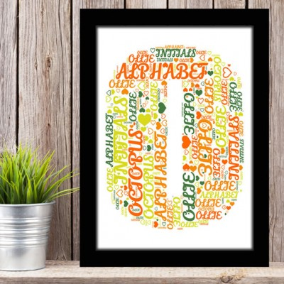 Alphabet Letter O Personalised WordArt Gift