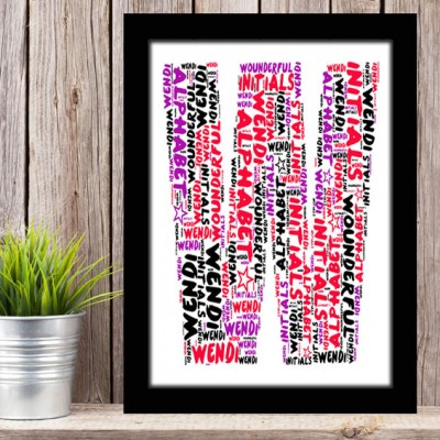 Alphabet Letter W Personalised WordArt Gift