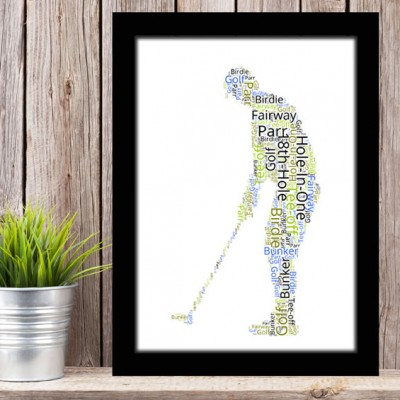 Word Art Golfer