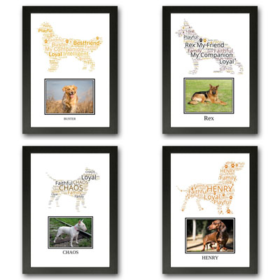 Personalised Dog Word Art Gifts