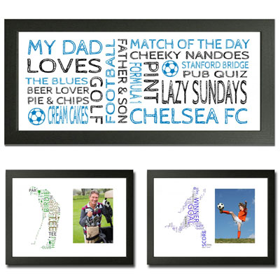 Personalised Sport Word Art Gift Print