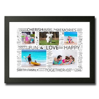 Family Word Art  Photo Collage