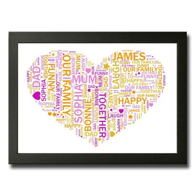 Word Art Heart Rectangle