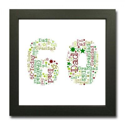 Square 60 WordArt Print