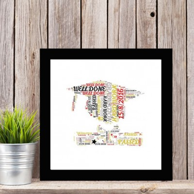 Personalised Word Art Graduation Print