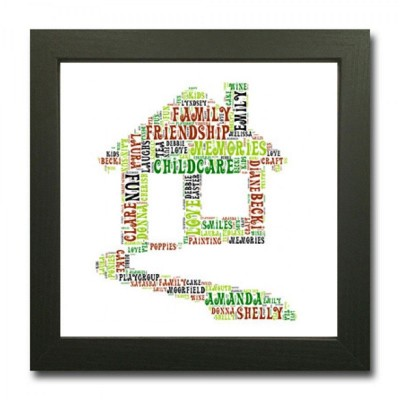 Personalised Word Art House Print
