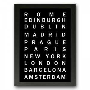 My Visited Places Typography
