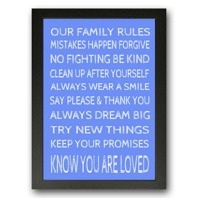Our Family Rules Typography
