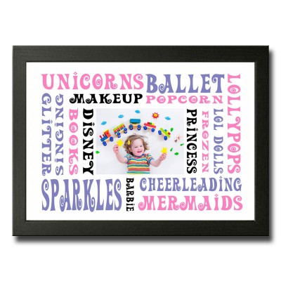 Personalised Word Cloud For A Girl