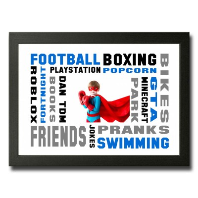 Personalised Word Cloud For A Boy