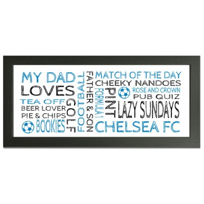 personalised Chelsea gift wordart
