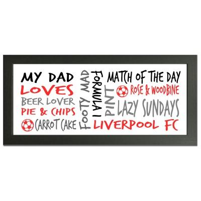 personalised Liverpool gift wordart