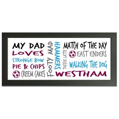 personalised West Ham gift wordart