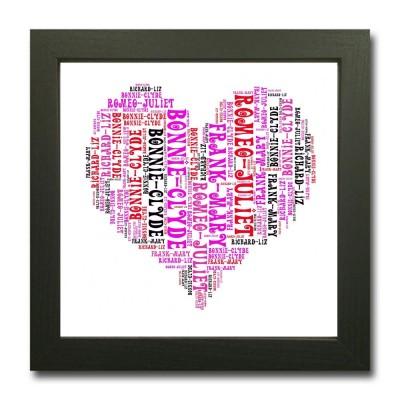 Word Art Heart