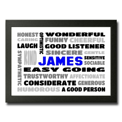 words for him word cloud print