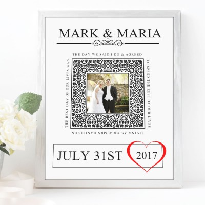 Our Wedding Day Typography