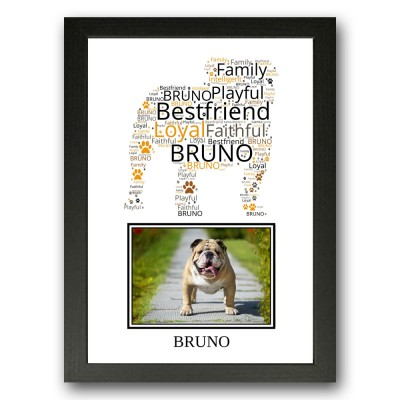 Personalised Bulldog Word Art Gifts