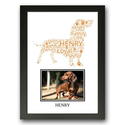 Personalised Dachshund Dog Word Art Gifts