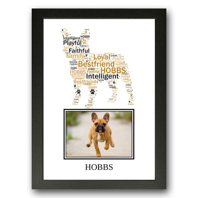 Personalised French Bulldog Word Art Gifts