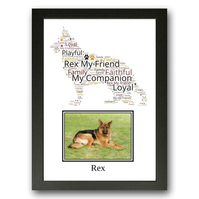 Personalised German Shepherd Dog Word Art Gifts