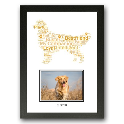 Personalised Golden Retriever Dog Word Art Gifts