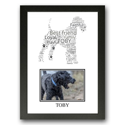 Personalised Kerry Blue Terrier Word Art Gifts