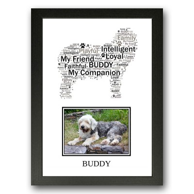Personalised Old English Sheepdog Word Art Gifts