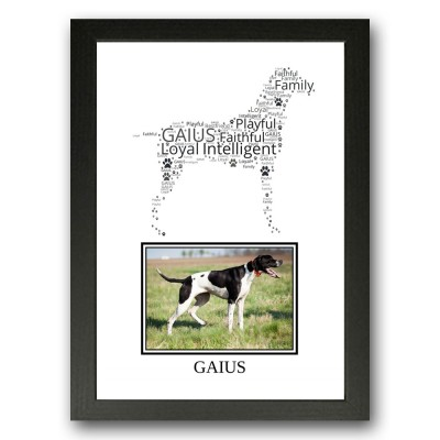 Personalised English Pointer Dog Word Art Gifts