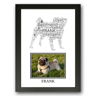Personalised Pug Dog Word Art Gifts