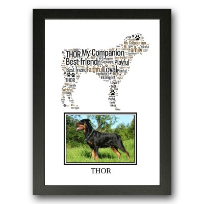 Personalised Rottweiler Dog Word Art Gifts