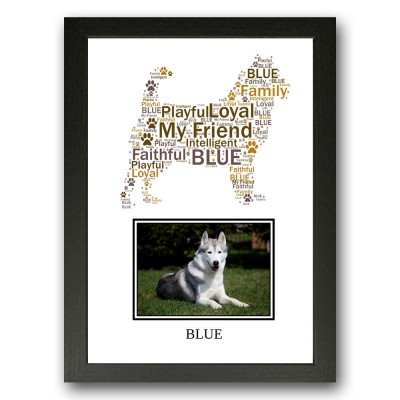 Personalised Siberian Husky Dog Word Art Gifts