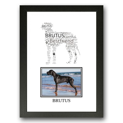 Personalised Great Dane Word Art Gifts