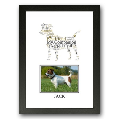 Personalised Jack Russell Terrier Word Art Gifts