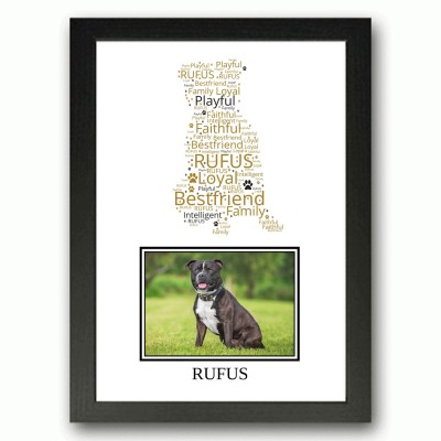 Personalised Staffordshire Bulll Terrier Word Art Gifts