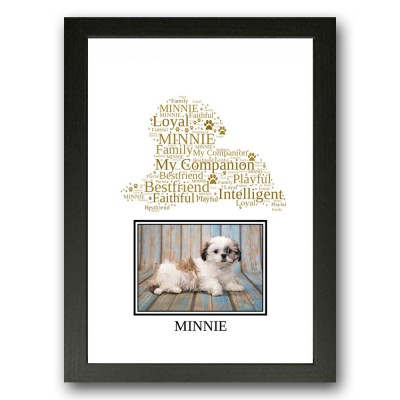 Personalised Shih Tzu Dog Word Art Gift Print