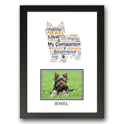 Personalised Yorkshire Terrier Dog Word Art Gifts
