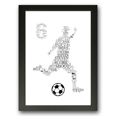 Personalised 6 Birthday Word art Football Gift