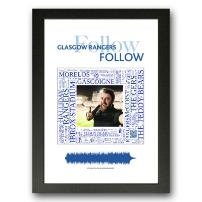Personalised Glasgow Rangers Gift Word Art Print