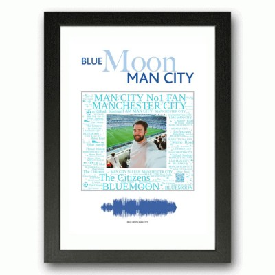 Personalised Man City Gift Word Art Print