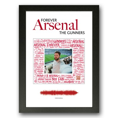 Personalised Arsenal Gift Word Art Print