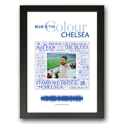 Personalised Chelsea Gift Word Art Print