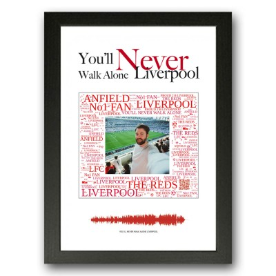 Personalised Liverpool Gift Word Art Print