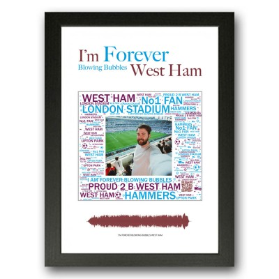 Personalised West Ham Gift Word Art Print