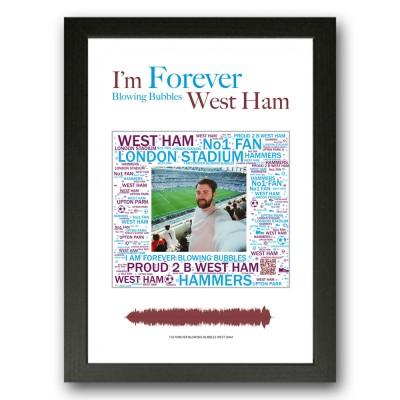Personalised West Ham Gift Word Art Print