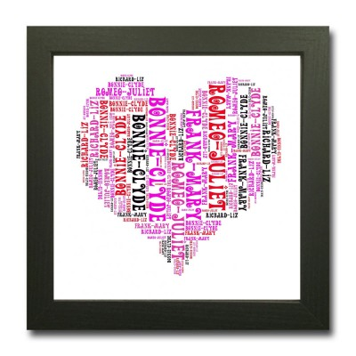 Word Art Heart