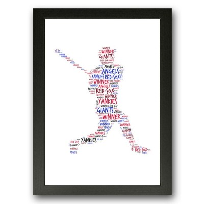 Baseball Player WordArt