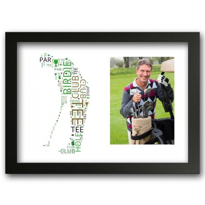 Personalised Golfer Print Wordart Gift