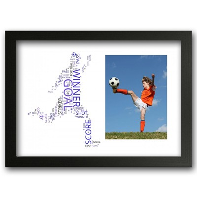 Personalised Football Word Art Print Gift